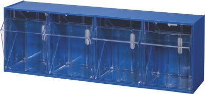 BRB Lagertechnik BRB Klappkasten Gehäuse mit 4 Klarsichtboxen