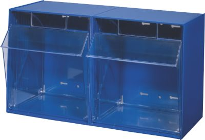 BRB Lagertechnik BRB Klappkasten Gehäuse mit 2 Klarsichtboxen