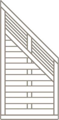 Dimplex -Prestige Sarah Zaunserie 90 x 180/90 cm Schrägelement, sandton