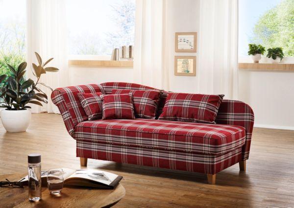 max winzer recamiere sarah rot sofa sessel polsterm bel ebay. Black Bedroom Furniture Sets. Home Design Ideas
