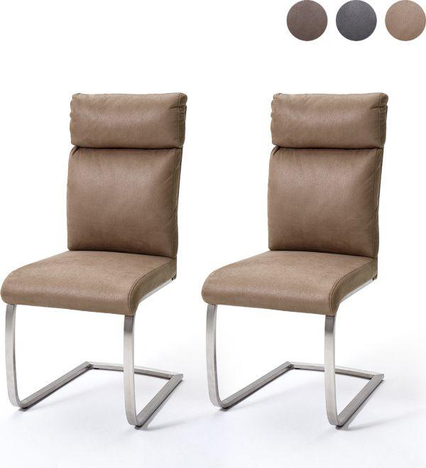 mca schwingstuhl 2er set rabea schwinger essstuhl esszimmerstuhl stuhl ebay. Black Bedroom Furniture Sets. Home Design Ideas