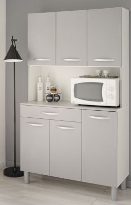 Küchenbuffet Spoon 2 - weiß/grau