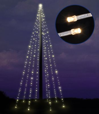 HI Haushalt International Lichterkette für Fahnenmast 10 m