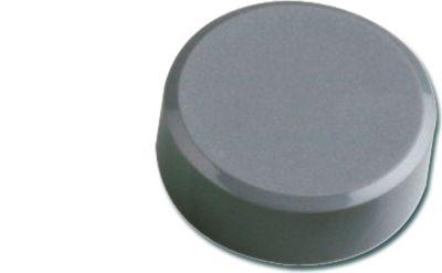 Facetterand-Magnet MAULpro, Ø 34 x 14 mm, 2 kg Haftkraft, 20 St./Set - grau