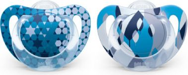 Beruhigungssauger GENIUS Color Gr. 1 Silikon blau