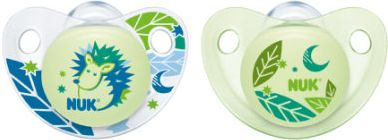 Night & Day Silikon- Beruhigungssauger ohne Ring Gr. 1 blau/grün