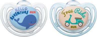 Freestyle 2015 Silikon-Beruhigungssauger Gr. 1 blau/beige