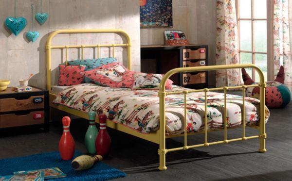 Vipack metallbett new york 120x200 cm einzelbett bett for Einzelbett 120x200