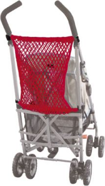 universales Kinderwagennetz mit Knebel Rot