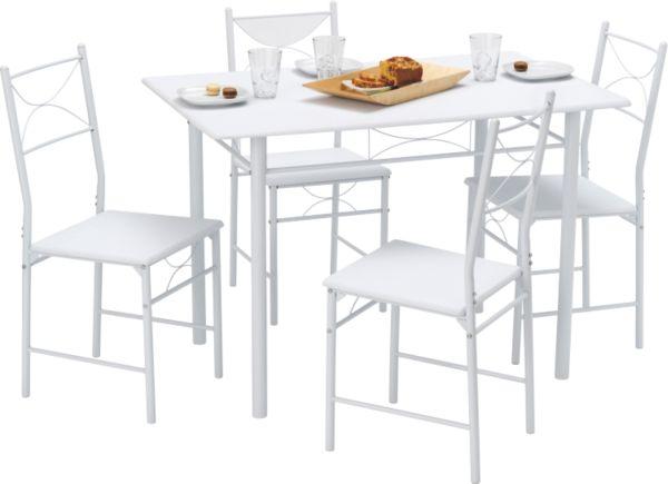 demeyere esstisch set whitney mit 4 st hlen tischgruppe. Black Bedroom Furniture Sets. Home Design Ideas
