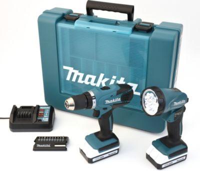 DF457DWLX1 18 V Li-Ion Akkuschrauber-Set inkl. 2 Akkus, Ladegerät, Taschenlampe, Bitset und Transportkoffer