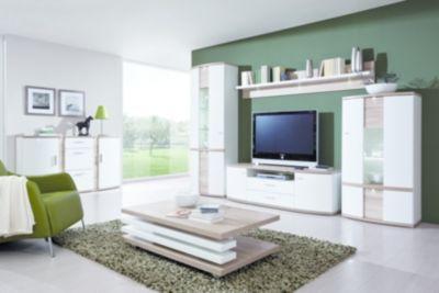 Wohnprogramm Cabana - Weiß/Eiche sägerau