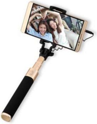 Selfie Stick schwarz/ gold