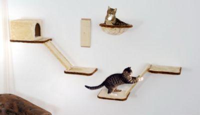 Silvio Design Katzen-Kletterwand 8-teilig beige