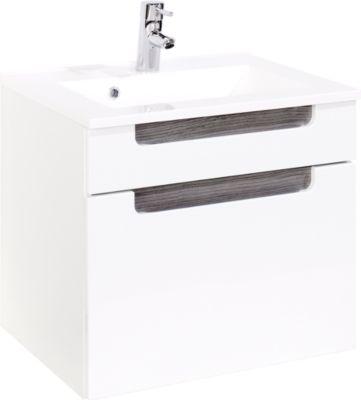 Siena Waschtisch - 60 cm - Weiß/Eiche Rauchsilber