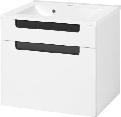 Siena Waschtisch - 60 cm - Weiß/Hochglanz Grau