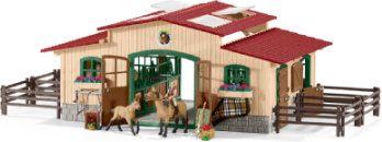 Pferdestall mit Pferden und Zubehör 42195