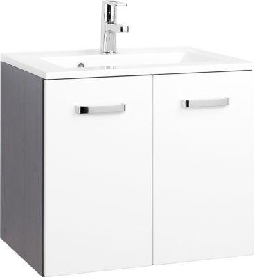 Bologna Waschtisch - 60 cm - Graphitgrau/Hochglanz Weiß