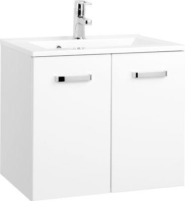 Bologna Waschtisch - 60 cm - Weiß/Hochglanz Weiß