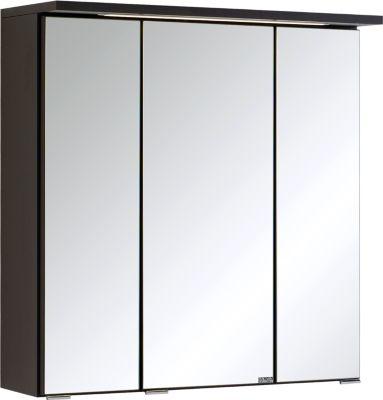 Bologna 3D-Spiegelschrank - 60 cm - Graphitgrau