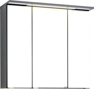 Bologna 3D-Spiegelschrank - 70 cm - Graphitgrau