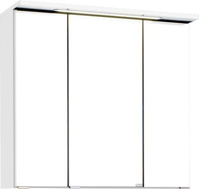 Bologna 3D-Spiegelschrank - 70 cm - Weiß