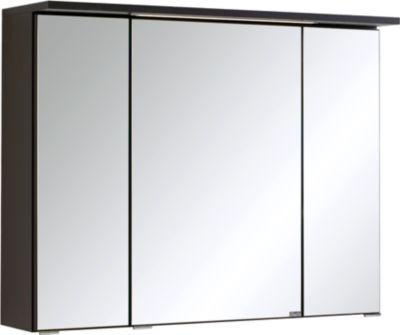 Bologna 3D-Spiegelschrank - 80 cm - Graphitgrau