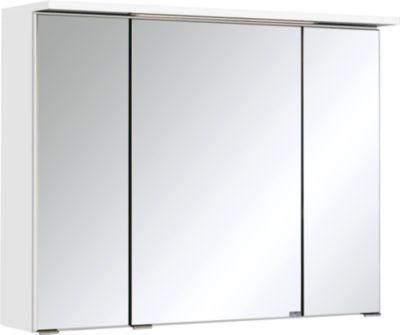 Bologna 3D-Spiegelschrank - 80 cm - Weiß