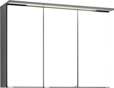 Bologna 3D-Spiegelschrank - 90 cm - Graphitgrau