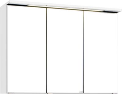 Bologna 3D-Spiegelschrank - 90 cm - Weiß