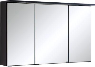 Bologna 3D-Spiegelschrank - 100 cm - Graphitgrau