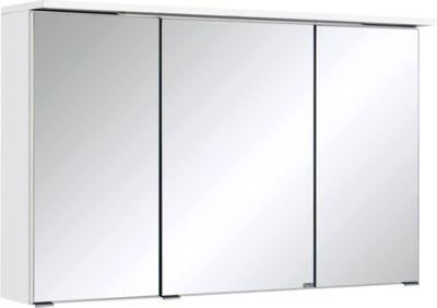 Bologna 3D-Spiegelschrank - 100 cm - Weiß