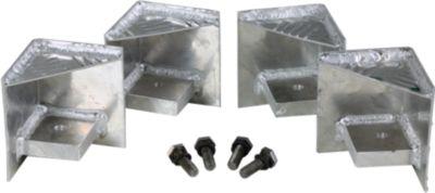 Alutec  Palettenfüße passend für alle Riffelblechboxen