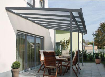 Gutta 4293156 Terrassenüberdachung anthrazit, 426 x 306 cm