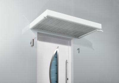 Gutta  Rechteckvordach NM 150 Weiß 14 cm x 150 cm x 90 cm