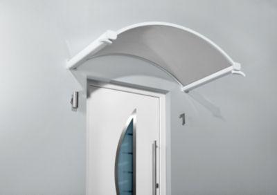 Gutta  Rundbogenvordach NO 160 Klar Weiß 30 cm x 160 cm x 90 cm
