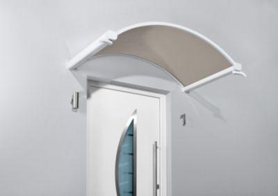 Gutta  Rundbogenvordach NO 160 Bronce Weiß 30 cm x 160 cm x 90 cm