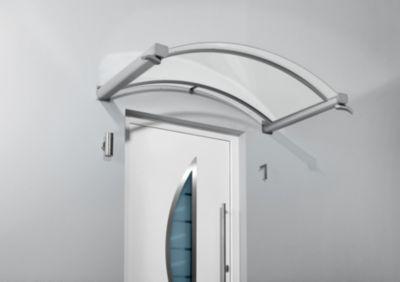 Gutta Typ BV/B Bogenvordach, Edelstahl, 160 x 90 cm   Baumarkt > Modernisieren und Baün > Vordächer   Aluminium   Gutta