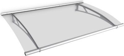 Gutta Typ L Pultvordach Edelstahl, 150 x 95 cm, klar   Baumarkt > Modernisieren und Baün > Vordächer   Edelstahl   Gutta
