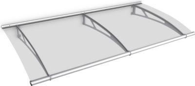Gutta  Typ L Pultvordach Basismodell Edelstahl, 191,6 x 95 cm, klar