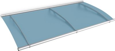 Gutta  Typ L Pultvordach Basismodell Edelstahl, 191,6 x 95 cm, satiniert blau