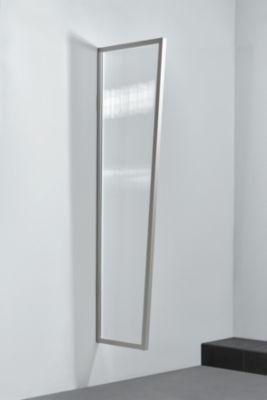 Gutta  Typ B1/PC Vordach-Seitenteil klar, 200 x 60 cm, Edelstahl