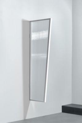 Gutta  Typ B2/PC Vordach-Seitenteil klar, 175 x 60 cm, weiß
