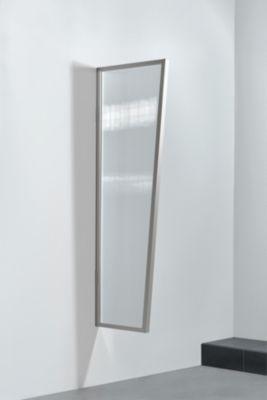 Gutta  Typ B2/PC Vordach-Seitenteil klar, 175 x 60 cm, Edelstahl