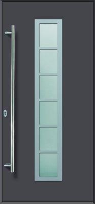 Aluminium-Haustür Modell A04 titan, links, nach...