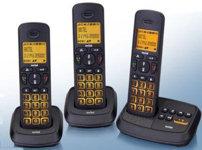 Switel Wizard DCT 59073 Trio TAM Schnurloses DECT-/GAP-Telefon-Set mit digitalem Anrufbeantworter - 3 Telefone
