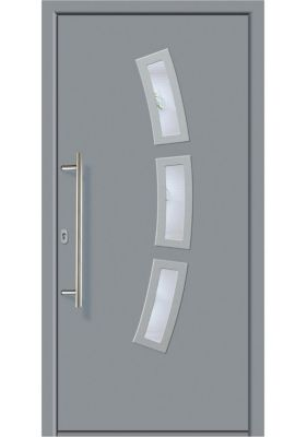 Aluminium-Haustür Modell A07 grau, links, nach ...