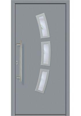 Aluminium-Haustür Modell A07 grau, rechts, nach...