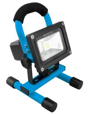 NINETEC  10W LED Akku-Baustellen-/Flutlichtstrahler, blau
