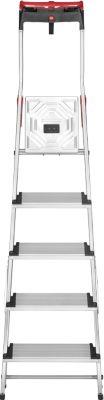 Hailo  ComfortLine XXR EasyClix Aluminium-Haushaltsleiter mit Multifunktions-Schale - 5 Sprossen
